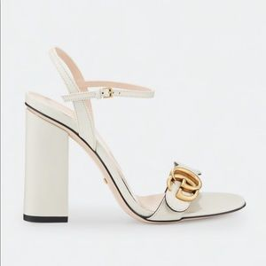 Gucci Marmont Leather block-geek sandals